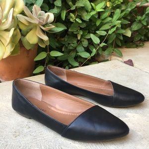 Lucky Brand Archh Black Leather Flats Size 7 1/2